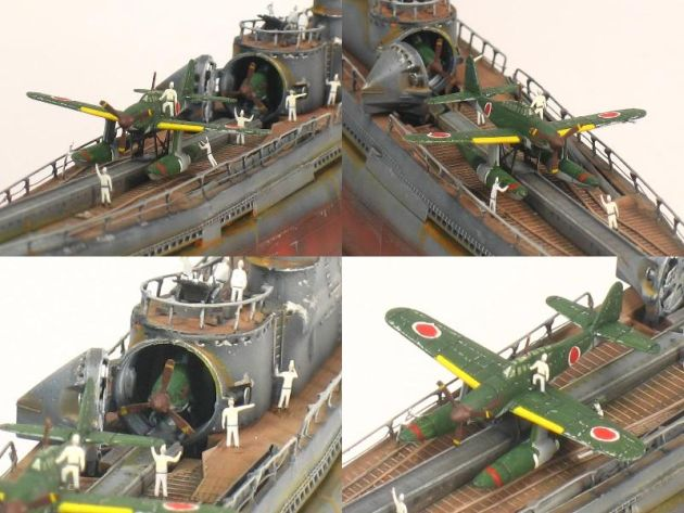 旧日本軍の巨大潜水艦「伊400型」
