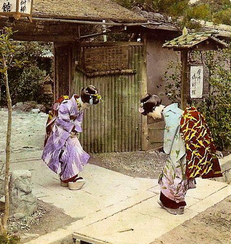 日本では日本の礼儀作法の不可欠な部分.... お辞儀.