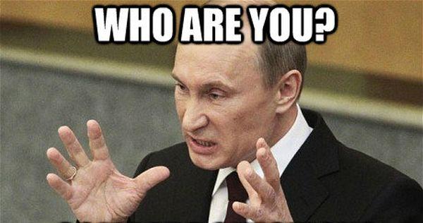 あまりにも多くの敏感な神経系を持っていると知られているのプーチン様, 怒ったぞ !
