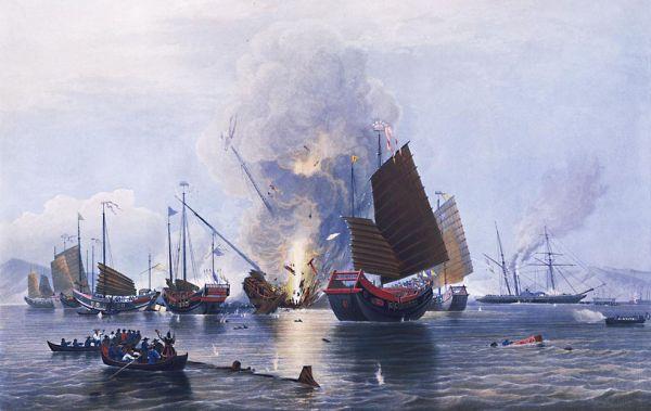 阿片戦争は、清とイギリスとの間で1840年から2年間にわたって行われた戦争である。名前の通り、アヘンの密輸が原因となった戦争である。