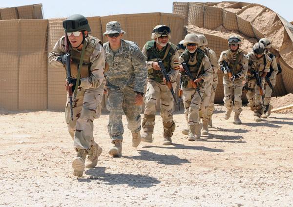 アメリカとイラク連携の地上攻撃部隊