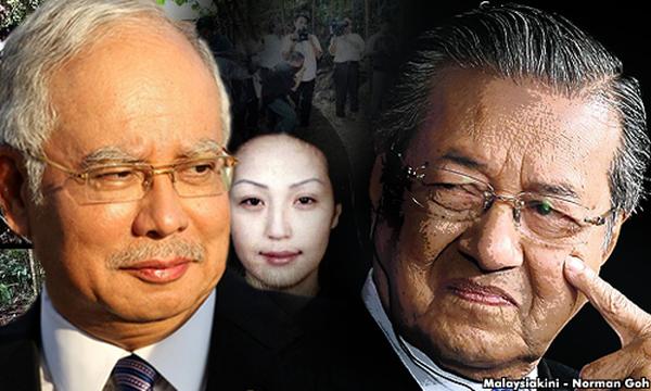 喧嘩だ ! 喧嘩だ ! (⌒‐⌒) ! マレーシア元首相对現職首相 真ん中に立っているあのモンゴル女性の幽霊も永遠にナジブ首相を尾行している....怖い !