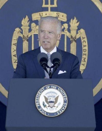 バイデン米副大統領 : 「公平で平和的な紛争の解決と航行の自由のために、米国はたじろぐことなく立ち上がる」