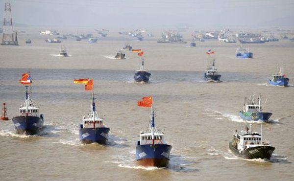 共産中国の海賊群れ