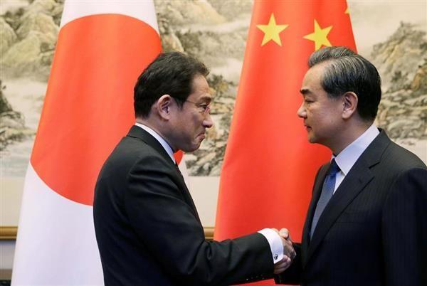岸田氏は中国の王毅外相と個別に会談