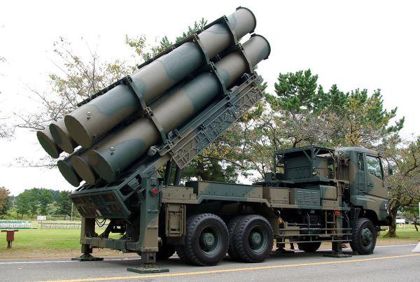 88式地対艦誘導弾の発射態勢. 射程150-200km(推定). 飛翔速度 1,150km/h