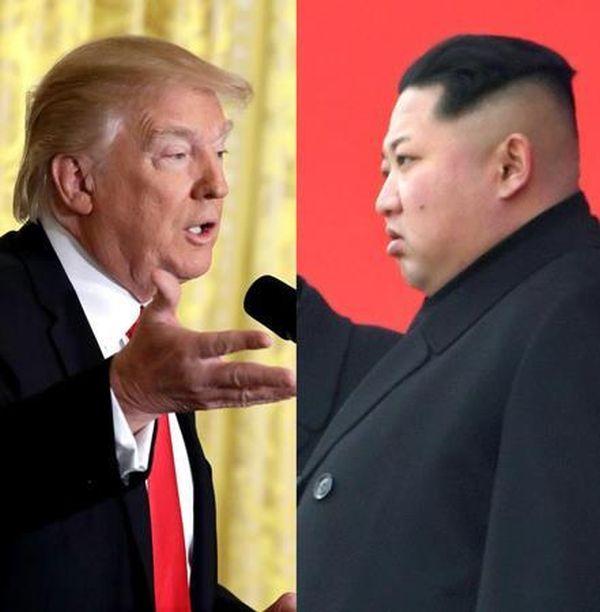 トランプ米大統領(AP)は、正恩氏(写真右、共同)率いる北朝鮮発の「朝鮮半島有事」に備えている