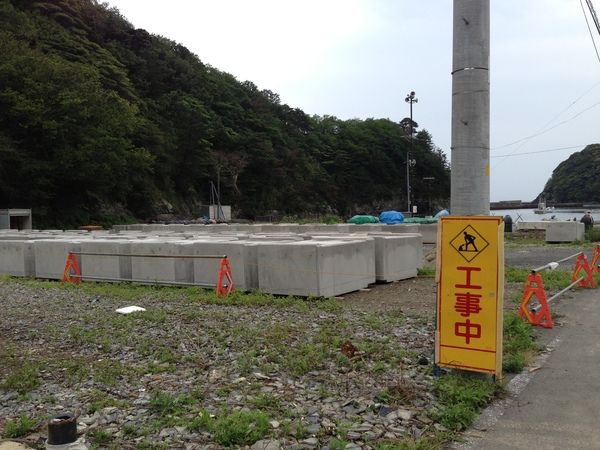 岸壁の復旧工事