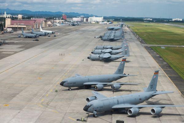 沖縄の嘉手納米軍基地