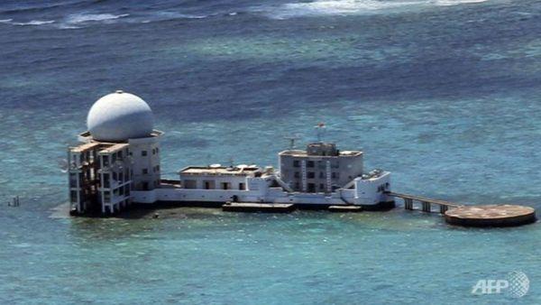 スービ礁での高周波レーダー