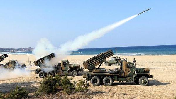 北朝鮮無数の長射程砲