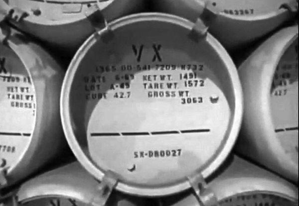 猛毒の神経剤VX