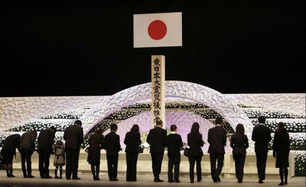 2013年の東日本大震災の追悼式典