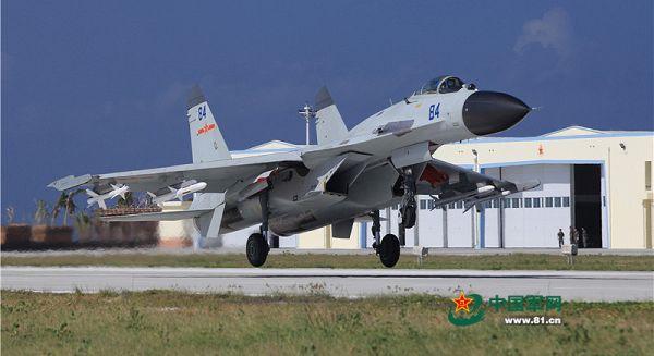 戦闘機の格納庫......J-11戦闘機