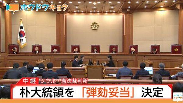 裁判官8人全員一致で罷免