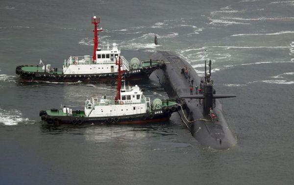 米原潜「ミシガン」釜山入港