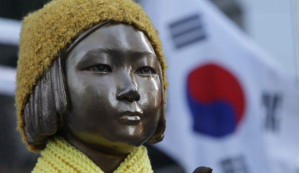 新たな「南朝鮮」釜山日本大使館前での慰安婦像