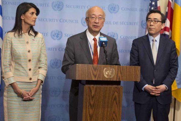 日本国連大使別所浩郎 :『北朝鮮にさらに圧力をかけて変わらせることが重要だ !』