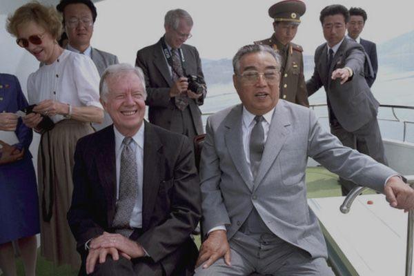 金日成とカーター元大統領会談