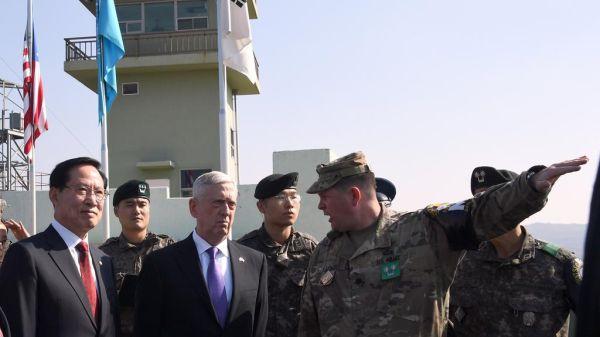 マティス国防長官, 北朝鮮が攻撃に出た場合には :『圧倒的な軍事的対応をとる !!!』