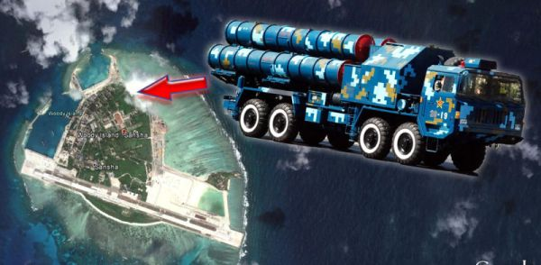 南シナ海で, 野蛮共産中国の地対空ミサイル