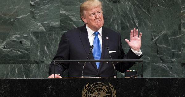 またもや, 9月19日...トランプ大統領は国連総会で初めての一般討論演説を行い...『北朝鮮を完全に破壊する!!!』