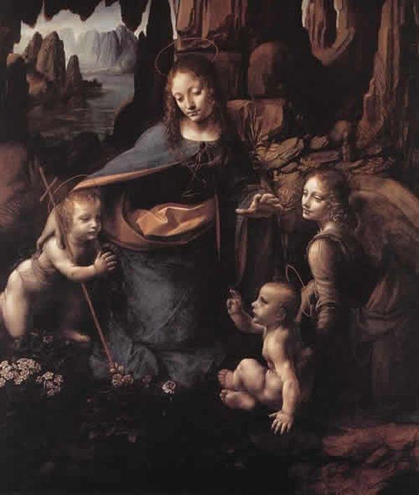 レオナルド・ダ・ヴィンチの「岩窟の聖母」