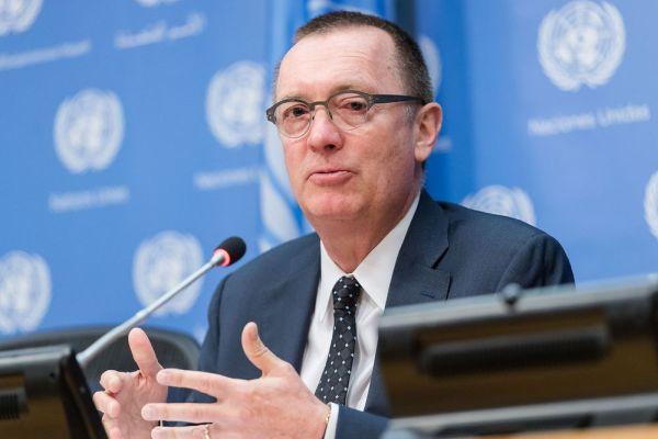 暇人の国連のフェルトマン事務次長