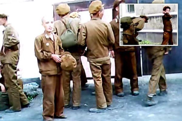 飢餓状態.....栄養失調の北朝鮮軍人....かわいそうな !