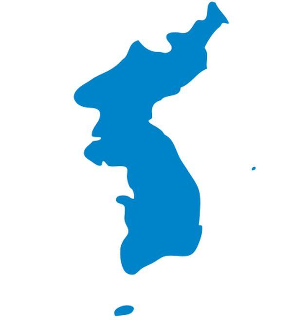 朝鮮半島が描かれたの統一旗