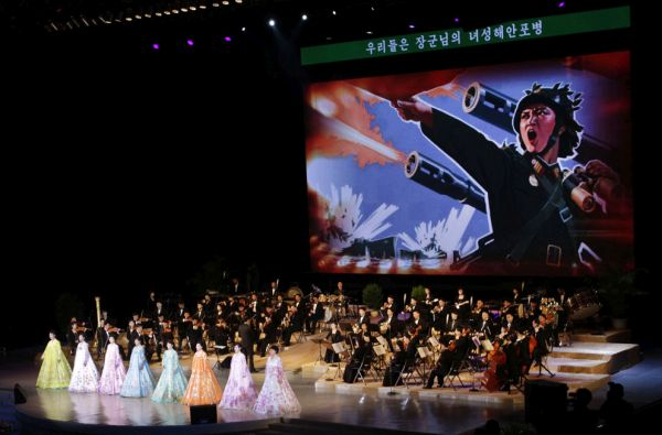 その期間中のコンサート, これかもしれない....世界名曲の...『♪♪♪ アメリカ全滅 ! 日本全滅 ! 中国全滅 ! 韓国全滅 ! ♪♪♪ 』