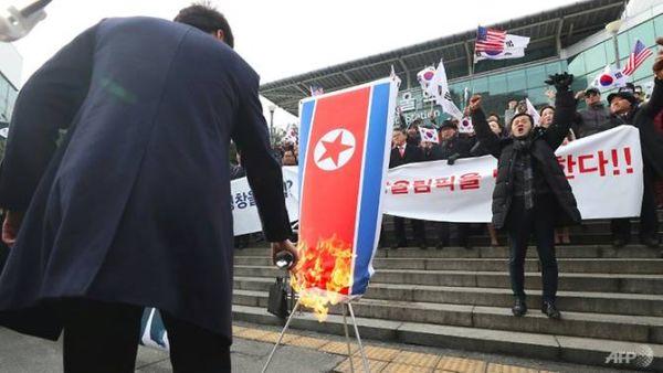 韓国の市民たち...
