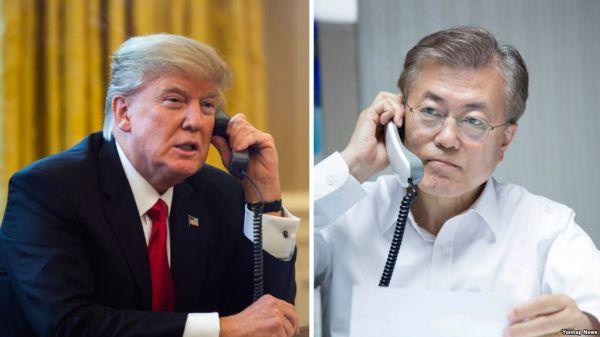 金正恩大統領の助手文在寅が彼もうひとりの上司から電話で許可を求めた