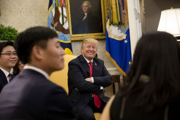 トランプ大統領, 脱北者らとの面会