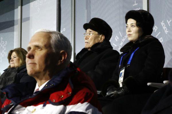 開会式で, ペンス副大統領 :『避けたのではなく, 無視した !』, 意識的に金与正を無視した