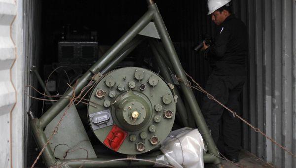 制裁違反の貨物.....ミグ29戦闘機エンジンの予備部品かもしれません