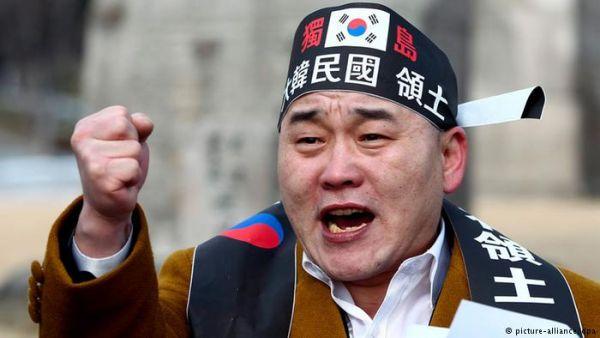 韓国左派,テロリストのように見えるの「愛国者」ら