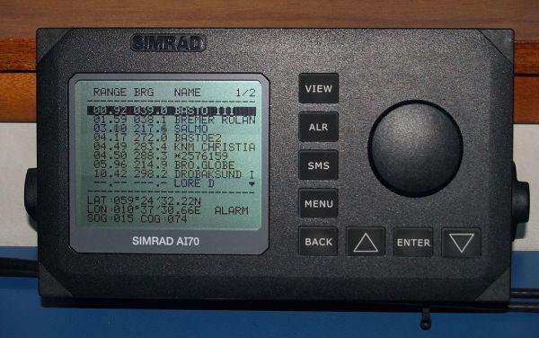 自動船舶識別装置は、国際VHFを利用した、船舶を自動識別する装置である