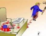 「ならず者国」の「大量殺人者」と会うというの意図の合意書に署名した後の「正義の味方」