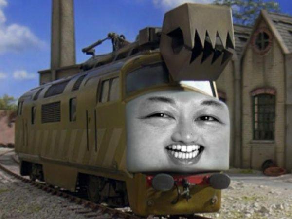正恩氏を乗せた特別列車