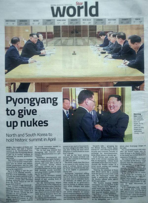 """""""非核化の意思""""を示したの北朝鮮.....ワハハハ ! マジッ !"""