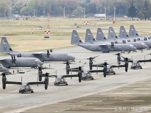 横田基地に到着したのCV22オスプレイ