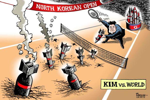 北朝鮮従来の宣言 : 『日本, アメリカと韓国を完全に破壊する ! 』 『われわれに対する核の威嚇や挑発がない限り』, すみません....誰かが誰を脅かしているか....(*´◡`*) !