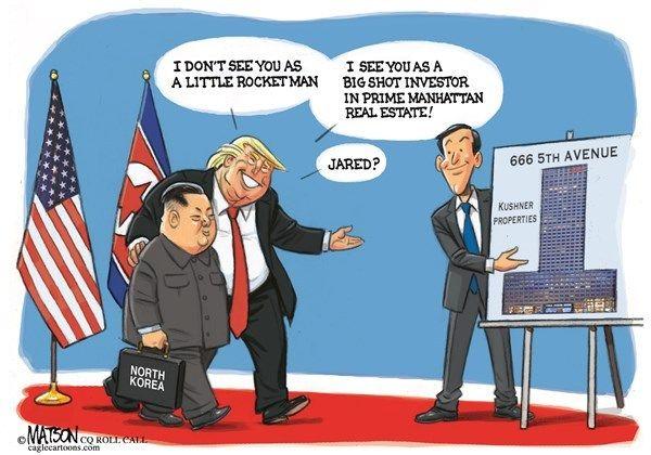 Jared Kushner 資産.....ワハハハ ! トランプ大統領 : 『 非核化って....急がない ! 急がない ! 急がない ! 』