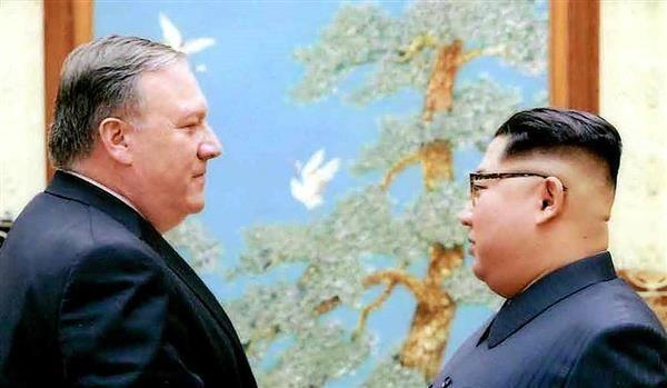 ポンペオ氏(左)は正恩氏の嘘を見抜いたのか(AP)