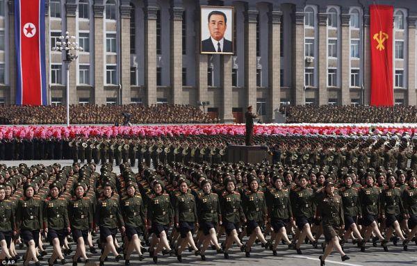 軍事パレードの準備
