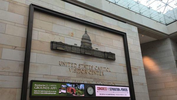 アメリカ合衆国議会議事堂の正面玄関