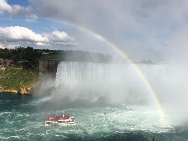 カナダのトロントから撮影したのナイアガラの滝